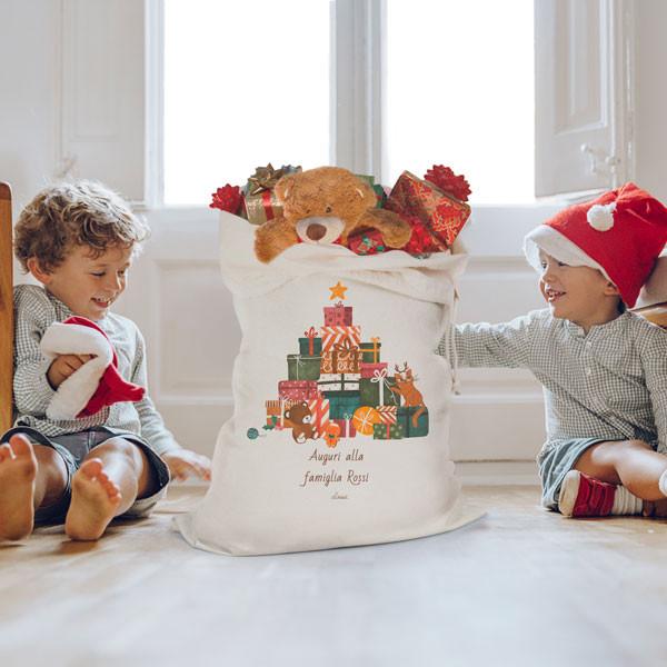 Regali Di Babbo Natale.Il Sacco Personalizzato Di Babbo Natale E Della Befana