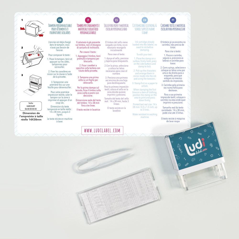 Timbri Personalizzati Per Stoffa timbro personalizzabile per vestiti e articoli di cartoleria