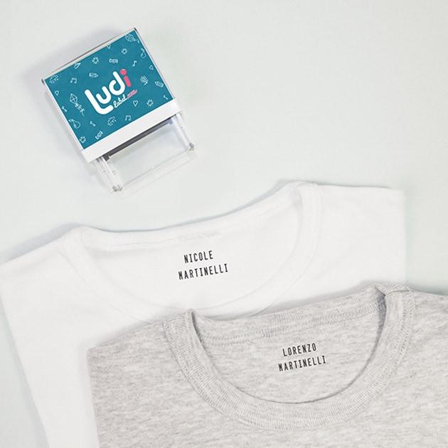 Timbro personalizzabile per vestiti e articoli di cartoleria