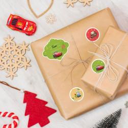 Etichette per regali di Natale - Cars