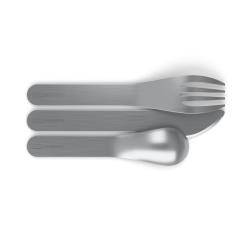 Kit di posate in acciaio inossidabile MB Pocket grigio Coton