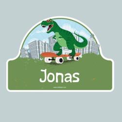 Adesivi porta cameretta personalizzati - Dinosauro