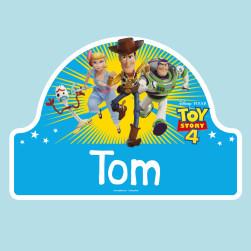 Adesivi porta cameretta personalizzati - Toy Story 4