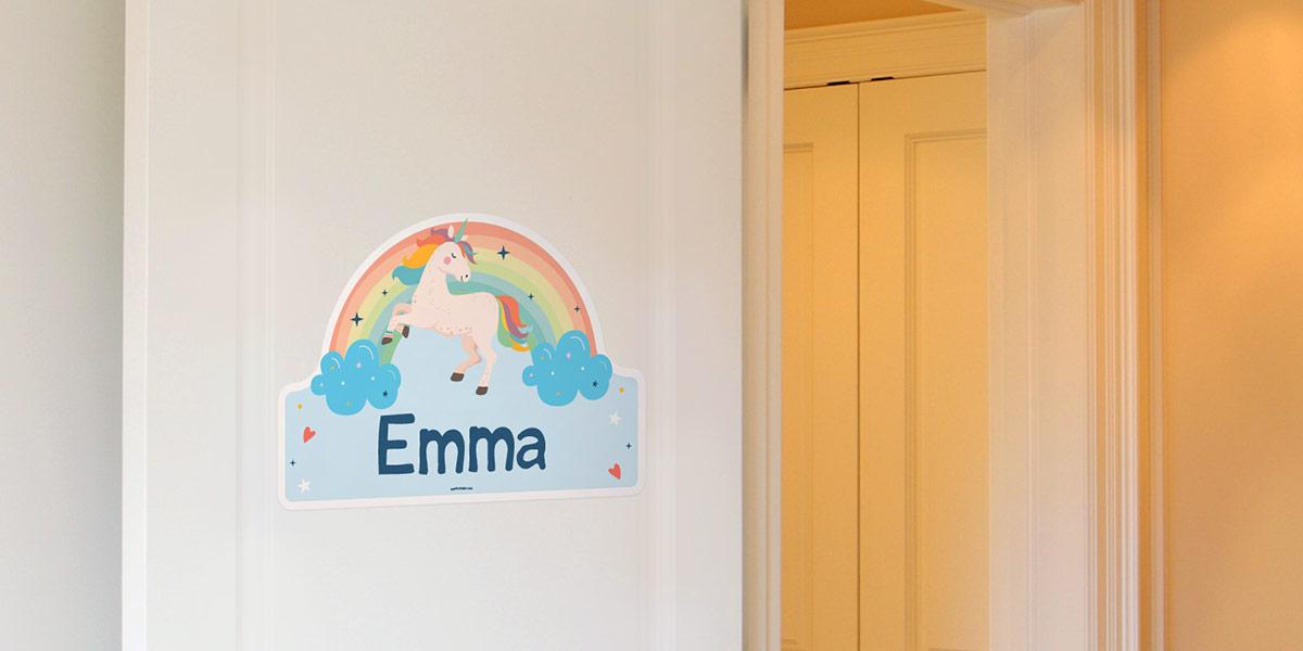 Adesivi porta personalizzati per la camera dei bambini