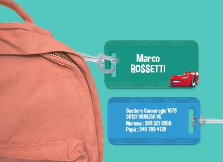 Etichetta bagagli Cars