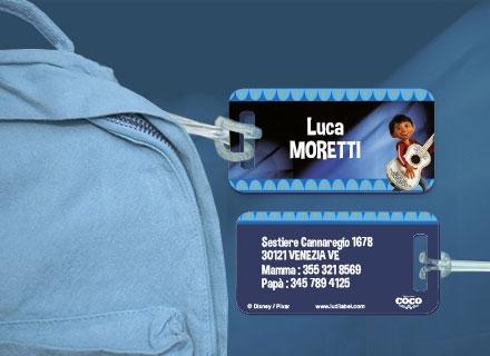 Etichette bagagli Coco