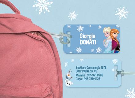 Etichette bagagli Frozen