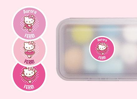 Etichette Hello Kitty retondi