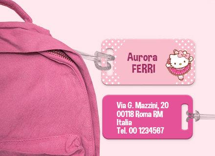 Etichette bagagli Hello Kitty