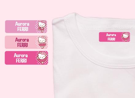 Etichette termoadesive Hello Kitty vestiti
