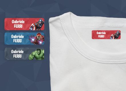 Etichette termoadesive Avengers