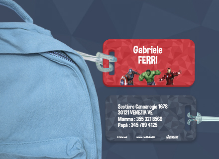 Etichette bagagli Avengers