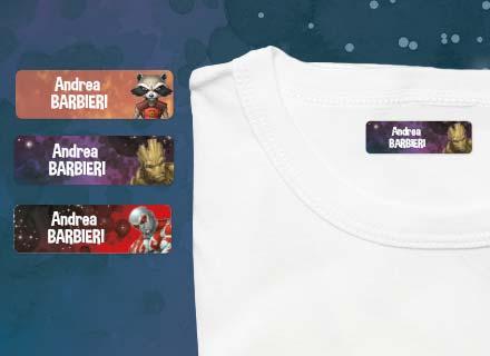 Etichette termoadesive Guardiani della Galassia vestiti
