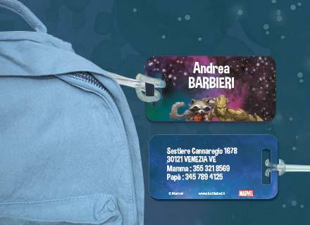 Etichette bagagli Guardiani della Galassia