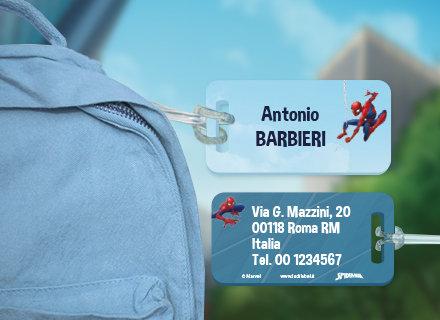 Etichette bagagli Spiderman