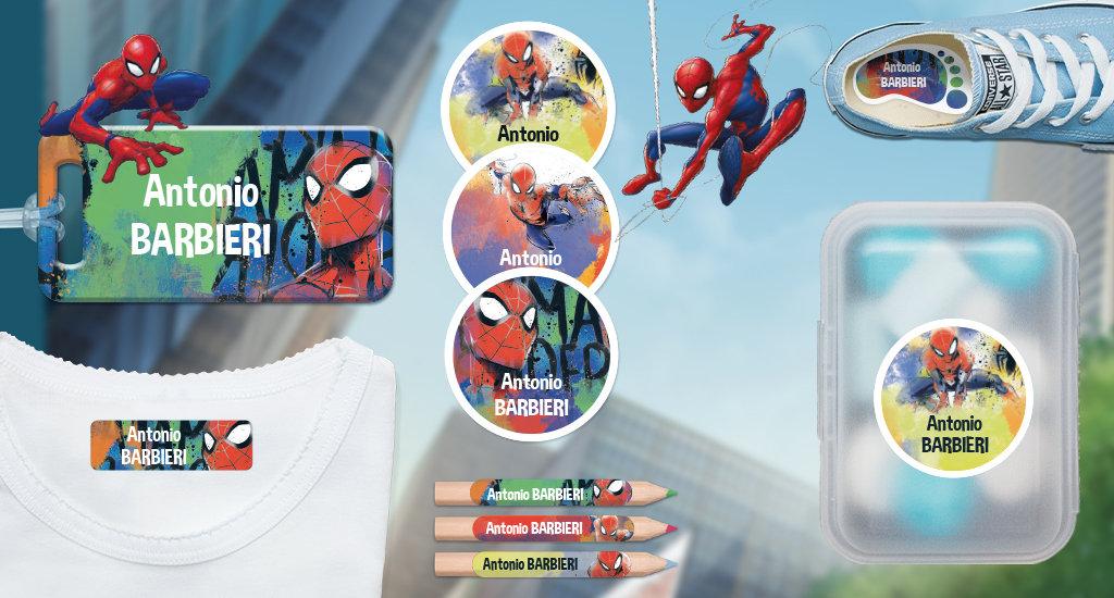 Etichette con nome dei bambini di Marvel: Spiderman