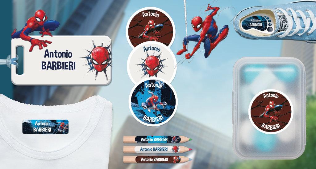 Les étiquettes  nominatives Spiderman
