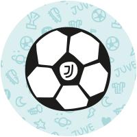 Etichette pallone da football della Juventus