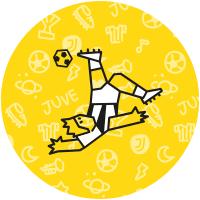 Etichette giocatore di football della Juventus