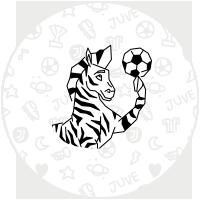 Etichette zebra della Juventus