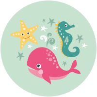 Mare, Balene, Hippocampi e stella di mare