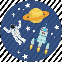 Cosmonauta nello spazio
