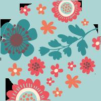 Motivo florale vintage