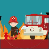 Pompiere maschio