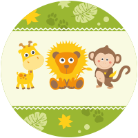 Leone, Scimmia e Girafa