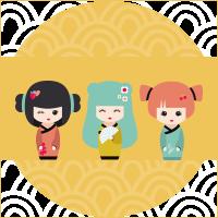 Bambola giapponese Kokeshi