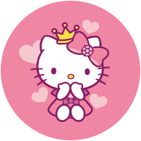 Etiquette Hello Kitty Cuore