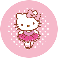 Etiquette Hello Kitty Danza