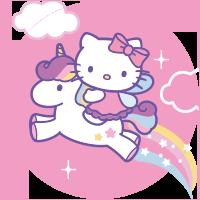 Etichette Hello Kitty Unicorno