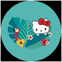 Hello Kitty en pyjama pour la nuit