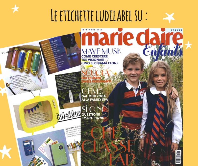 Marie Claire Enfants parla di Ludilabel