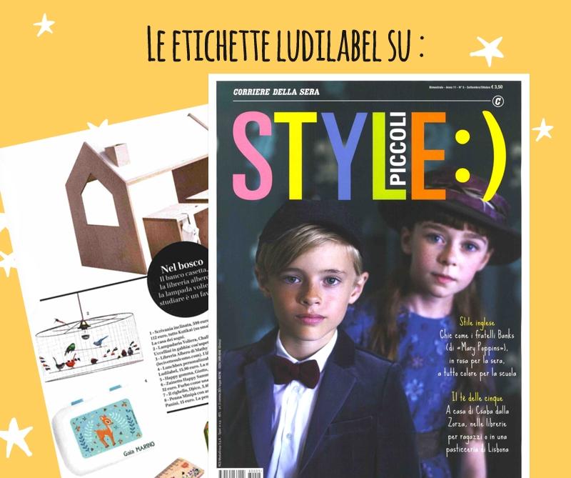 Style Piccoli parla di Ludilabel