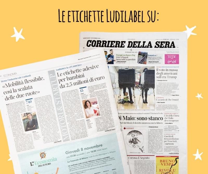 Corriere de la Sera  parla di Ludilabel
