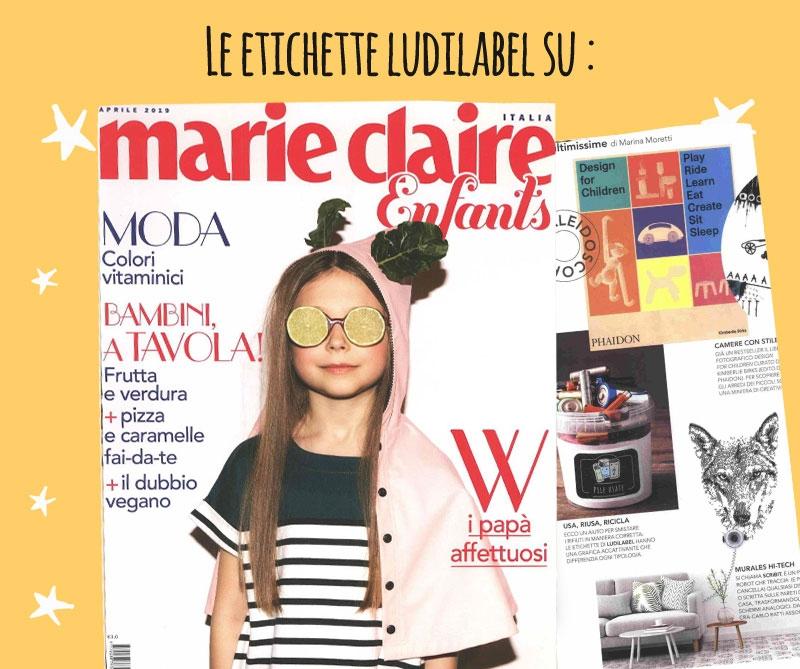 Marie Claire  parla di Ludilabel