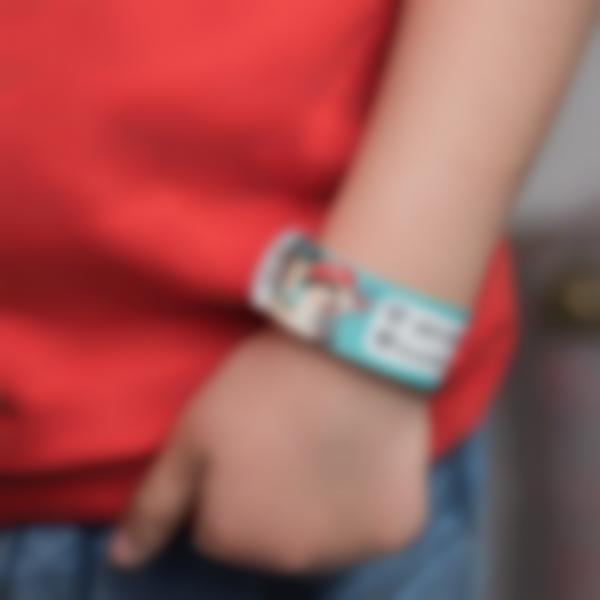1 braccialetto identificativo antismarrimento bambini