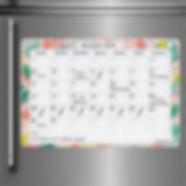 1 calendario planner mensile scrivibile personalizzate magnetica