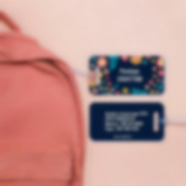 1 etichetta targhette bagagli aereo dati indirizzo