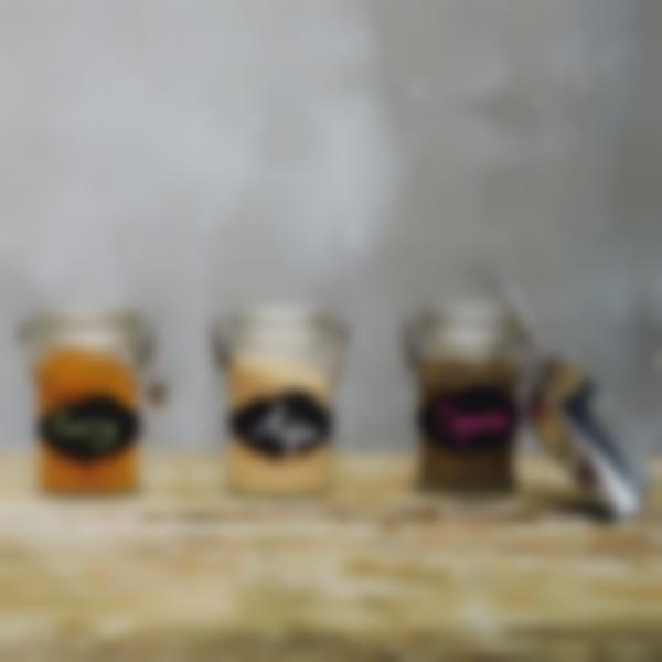 1 etichette adesive lavagnetta barattoli spezie