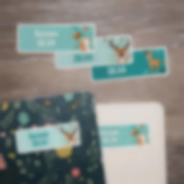 2 adesivi rettangolari personalizzati blocknotes