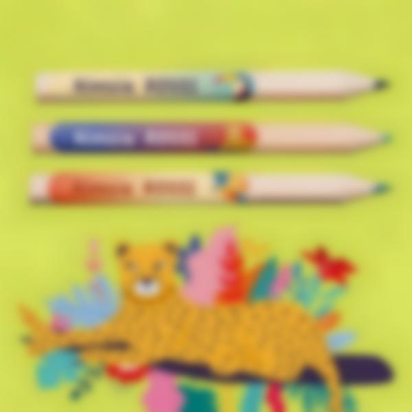 2 etichette adesive minis materiale scolastico jungle vibes