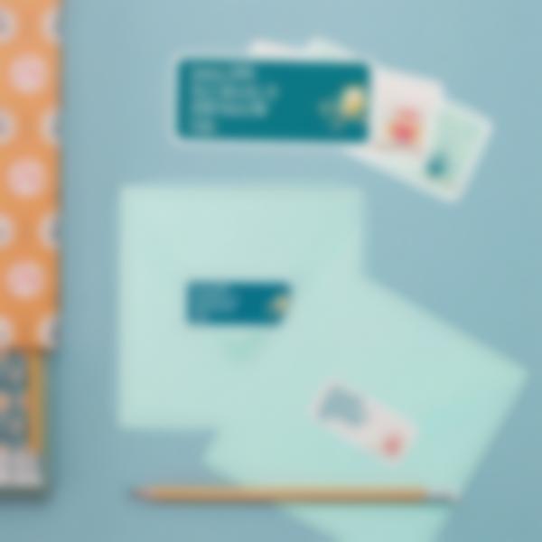 3 etichette adesive indirizzo buste