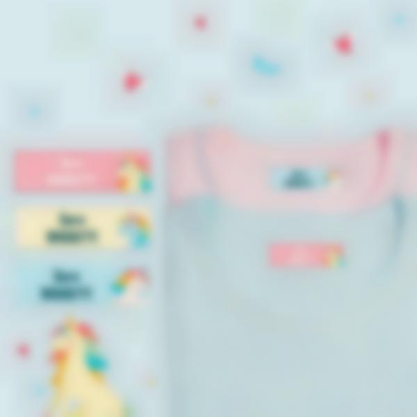3 pacchetto adesivi etichette materiale scolastico unicorno 21