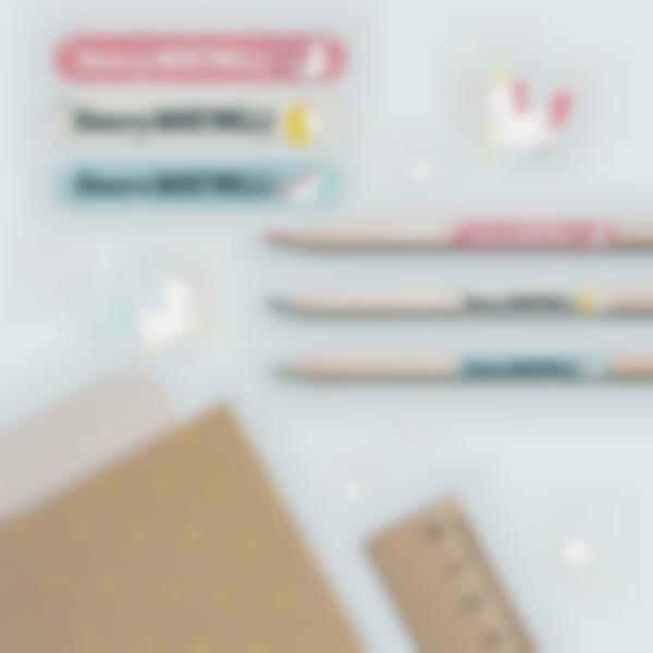 3 pacchetto adesivi etichette materiale scolastico unicorno