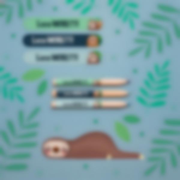 3 pacchetto etichette scuola materna con nome bambini bradipo