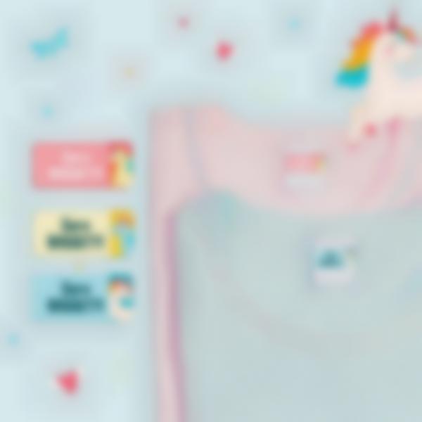 4 pacchetto adesivi etichette materiale scolastico unicorno 21