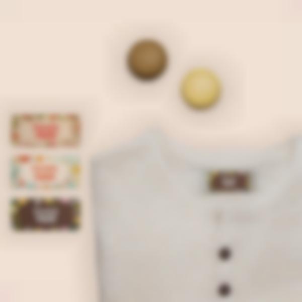 4 pacchetto etichette adesive vestiti residenze anziani bis
